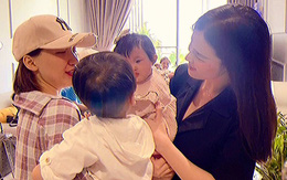 """Con gái Đông Nhi và con trai Hòa Minzy lần đầu gặp mặt, ánh mắt nhìn nhau """"chằm chằm"""" khiến hai mẹ thích thú"""