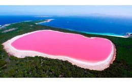 Kì lạ hồ nước màu hồng ở Australia