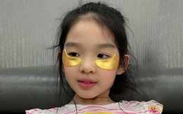 Con gái Xuân Lan biết đắp mặt nạ, dùng serum ở tuổi lên 8