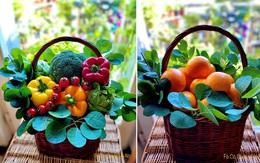"""Những """"bó hoa rau củ quả"""" đầy màu sắc của mẹ Việt tại Pháp"""