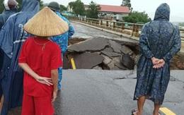 Cầu sập, giao thông qua Bình Định đi Phú Yên, các tỉnh Tây Nguyên bị tê liệt