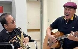 Nhạc sĩ Trần Tiến diễn cùng Trần Mạnh Tuấn trong bệnh viện