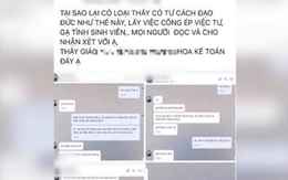 Diễn biến mới nhất vụ việc tin nhắn giảng viên gợi ý nữ sinh đến khách sạn ở Hà Nội: Hé lộ nội dung bản tường trình của thầy giáo bị tố