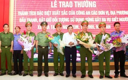 Nghệ An: Trao thưởng các đơn vị bắt giữ thành công đối tượng nổ súng khiến 2 người tử vong