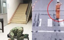 Lời chào cảm tạ của chiến sĩ CSGT và hình ảnh nhói lòng nơi tuyến đầu chống dịch