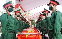 Nghệ An: Tổ chức trọng thể lễ an táng 95 liệt sĩ quân tình nguyện và chuyên gia Việt Nam