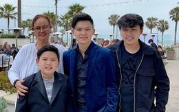 Đại gia đình mừng con trai Bằng Kiều tốt nghiệp trung học