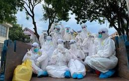 Khoảnh khắc trước khi rời tâm dịch Bắc Giang của đoàn chi viện trường ĐH Y Dược Hải Phòng