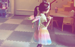 Tăng Thanh Hà khoe khoảnh khắc con gái 4 tuổi vào bếp giúp mẹ rửa bát