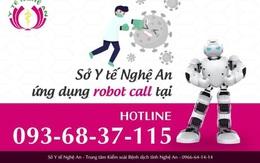 Nghệ An triển khai hệ thống Robot Call truy vết COVID-19