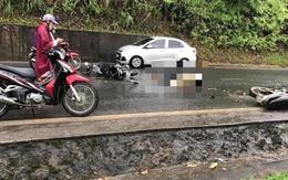Hoà Bình: Va chạm giữa hai xe máy trong trời mưa khiến 1 người chết, 1 người bị thương