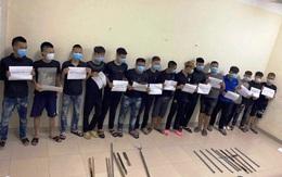 Hà Nam: Công an triệu tập hơn 30 thanh niên dùng dao, kiếm đánh nhau
