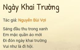 """Tranh cãi bất ngờ xung quanh câu hỏi """"Khai giảng vào đầu thu hay cuối thu?"""" từ đề thi Tiếng Việt lớp 2"""