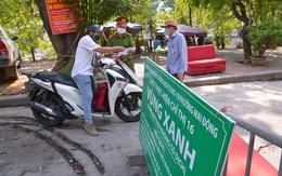 """Cận cảnh các chốt """"vùng xanh"""" bảo vệ các khu dân cư chưa có F0 tại Hà Nội"""