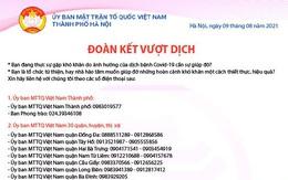 Hà Nội công bố số điện thoại hotline hỗ trợ các hoàn cảnh khó khăn do dịch COVID-19