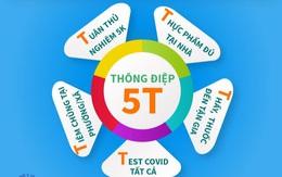 Thông điệp 5T Bộ Y tế lần đầu tiên giới thiệu gồm những gì?