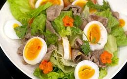 Cách làm món salad thịt bò xà lách