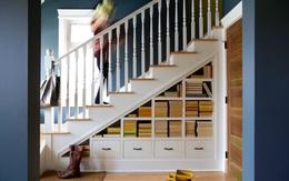 Nếu nhà bạn có gầm cầu thang thì không nên bỏ qua 7 gợi ý hữu ích này