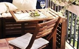 10 cách thiết kế đỉnh cao khi ban công cực nhỏ vẫn bố trí được bàn ăn và ghế