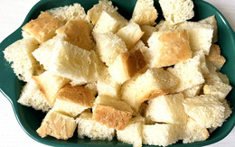 Hô biến bánh mì cũ thành món bánh mới toanh nhìn cực sang chảnh chỉ trong nháy mắt