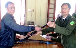 Quảng Ninh: Một cá nhân tự giác giao nộp 3 khẩu súng