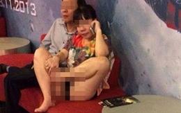 Phát hoảng với hình ảnh hớ hênh của một phụ nữ tại rạp chiếu phim