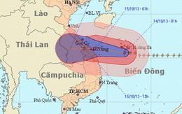 Chiều tối nay, bão giật cấp 14 từ Hà Tĩnh đến Quảng Ngãi