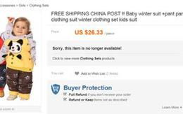 Quần áo trẻ em Trung Quốc chứa nhiều chất gây độc