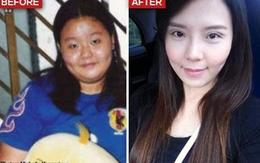 """""""Lột xác"""" thành hot girl sau giảm cân"""
