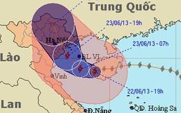 Bão số 2 suy yếu gây mưa to diện rộng
