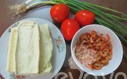 Đậu sốt cà chua tôm nõn cho bữa tối