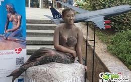 Cô gái hóa thân thành nàng tiên cá gây sốt trong công viên