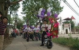 Hà Nội: Thú vị đám rước dâu bằng... xe đạp