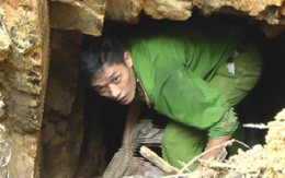 """Phát hiện hàng trăm kilogam thuốc nổ của """"vàng tặc"""" trong hầm sâu"""
