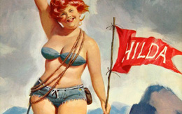 """Cư dân mạng thích thú với bộ tranh vẽ nàng béo """"sexy"""" Hilda"""
