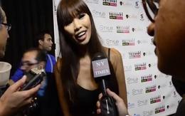Hà Anh sang Mỹ tự nhận đang là 'host' Next Top Model