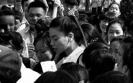 Hà Hồ tất bật về Quảng Bình làm từ thiện