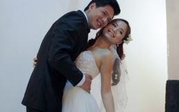 Lộ ảnh Bình Minh ôm chặt Lan Phương trong trang phục cô dâu chú rể