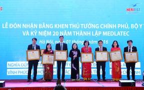 Bệnh viện Đa khoa Medlatec đón nhận Bằng khen của Thủ tướng Chính phủ, Bộ Y tế
