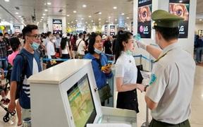 Bộ GTVT chấn chỉnh công tác phòng dịch tại sân bay, từ chối vận chuyển khách không thực hiện khai báo y tế