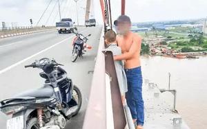 Vừa ly hôn, người đàn ông ôm con định nhảy cầu Cần Thơ tự tử