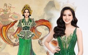 """Lộ thiết kế """"Dances of the World"""" của Đỗ Hà: Gây tò mò với hình ảnh nữ tướng Bà Triệu."""