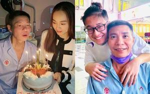 Hình ảnh NSND Công Lý đón tuổi mới trong bệnh viện cùng vợ trẻ và con trai