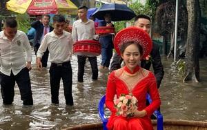 Cô dâu ngồi thúng về nhà chồng nhưng biểu cảm của cặp vợ chồng mới là cái khiến nhiều người xôn xao