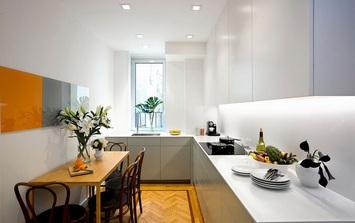Căn bếp nhỏ trong căn hộ này khiến ai thấy cũng mê vì sự đa năng và tiện lợi