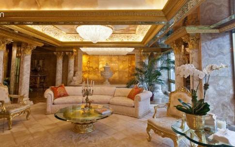 """""""Cung điện trên không"""" dát vàng choáng ngợp của Tổng thống Mỹ Donald Trump"""