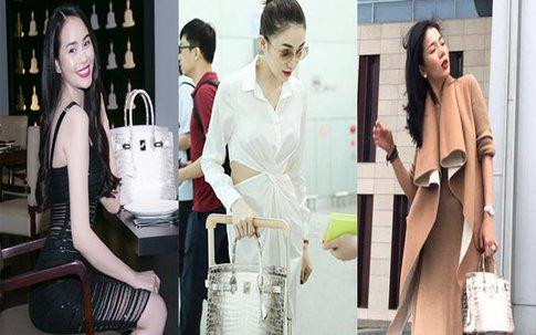 """Túi Hermes """"bạch tạng"""" cực quý hiếm được mỹ nhân Việt sử dụng... nhan nhản"""