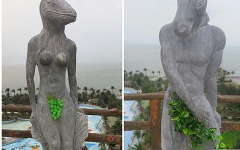Tượng 12 con giáp bỏ bikini thay bằng lá cây, chùm nho có hết phản cảm?