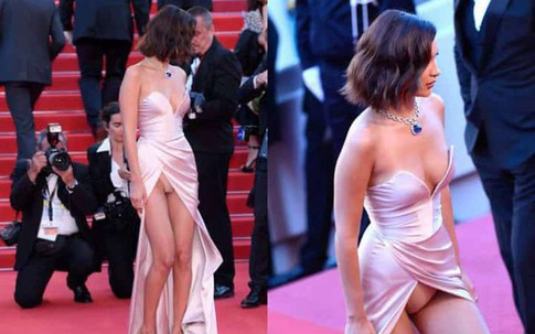 Những pha hớ hênh nóng mắt trên thảm đỏ Cannes
