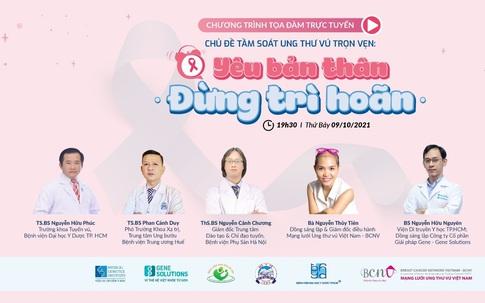 Gene Solutions phối hợp với 3 bệnh viện và BCNV tổ chức Tọa đàm trực tuyến về tầm soát ung thư vú